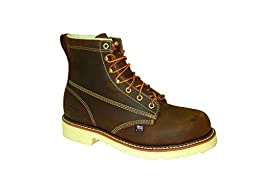 Thorogood Men\'s American Heritage 6 Inch Safety Toe Lace-up Boot, Brown, 12 2E US
