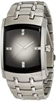 Hot Sale Armitron Men's 204507DGSV Swarovski Crystal Accented Stainless Steel Gray Dial Watch