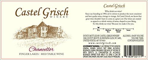 2012 Castel Grisch Chancellor Finger Lakes 750 Ml