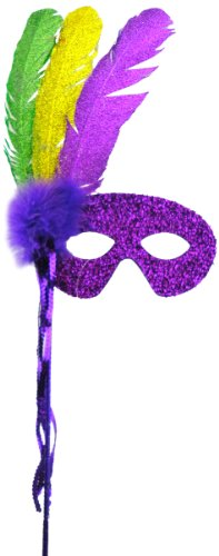 Mask It 48047 Mardi Gras Half Mask