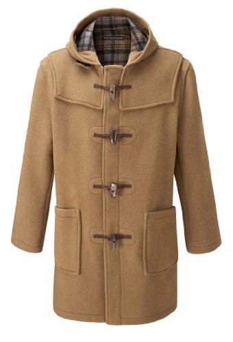 Mens Long Duffle Coats -- Camel