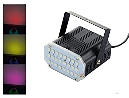Intsun® Mini 24 RGB LED DJ Strobe Lights, DJ Disco Party Stage Effect Lighting for Christmas, Club Dj Disco Bar Stage House Party Lighting Decoration (24 Pcs LED)