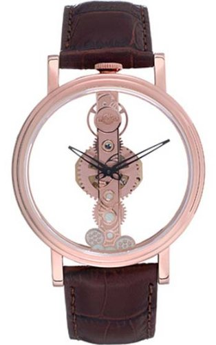 GV2 BY GEVRIL PHANTOM SKELETON WATCH ROSE GOLD 8602