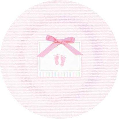 Baby Soft Pink Dessert Plates 8ct - 1