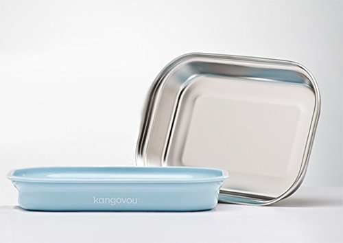 Kangovou Stainless Steel Flat Plate (Frosted Blueberry)