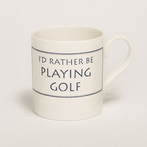 Stubbs Mugs I'D Rather Be Playing Golf Mug Bone China