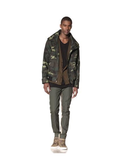B: Scott Men's Camo Mock Jacket