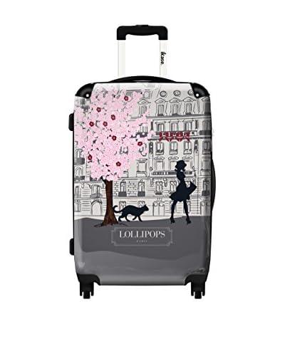 Ikase Lollipos Walk Grey Rolling Luggage, Multi, 10X16X24