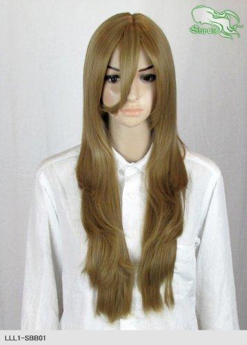 スキップウィッグ 魅せる シャープ 小顔に特化したコスプレアレンジウィッグ フェザーロング カプチーノ