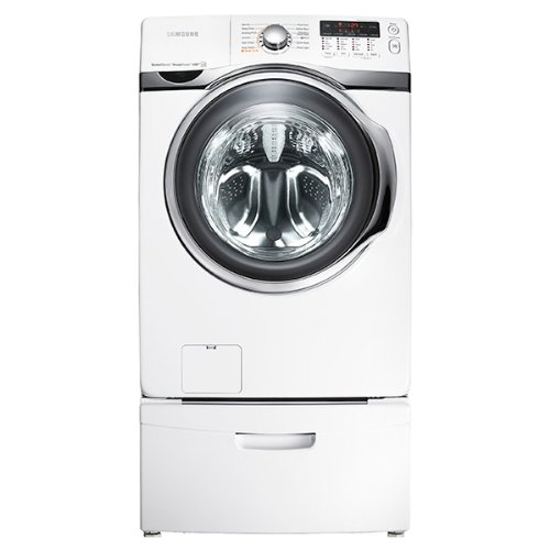Samsung WF405ATPA 4.0 Cu. Ft. Front Load Washer with VTR, SpeedSpray and PowerFoam in Platinum, Neat White Reviews