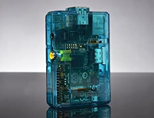 SB Housse / Coque de protection bleu transparent pour Raspberry Pi