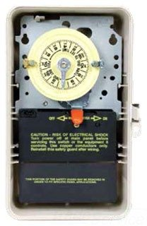 Intermatic T106P3 Timer Switch, 208V-277V 24 Hr. Mechanical SPDT w/NEMA 3R Plastic Case - Beige