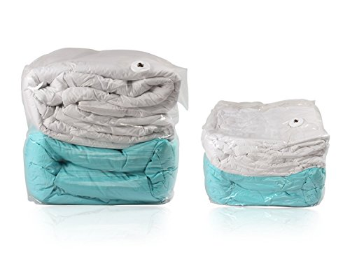 3 PACK Premium Space Saver Vacuum Seal Cube Garment Storage Bags SET Small to Jumbo (3, Medium (32