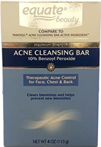 Acne Cleansing Bar, 4oz, By Equate Beauty, Compare to Panoxyl Acne Cleansing Bar