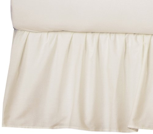 American Baby Company 100% Cotton Percale Dust Ruffle, Ecru back-983575
