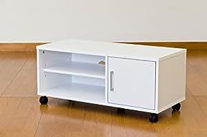 テレビ台 ローボード 薄型テレビ用ボード W800mm(32インチ薄型テレビまで対応) sd4331679ホワイト