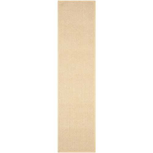 Safavieh Natural Fiber Collection NF443A Hand Woven Maize and Wheat Jute Runner, 2 feet 6 inches by 20 feet (2'6