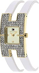 Tommy Hilfiger Two-Hand White Leather Women's watch #1781491