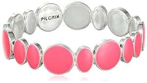 Pilgrim Jewelry Damen-Armband aus der Serie Energetic versilbert pink 17.0 cm 251316702