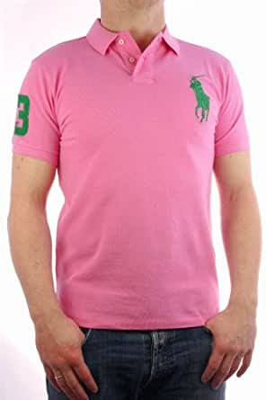 "Ralph Lauren - Polo by Ralph Lauren ""Big Pony Collection"" rose / vert - Homme - 3XL"
