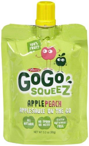 GoGo Squeez Apple Peach 4 pk