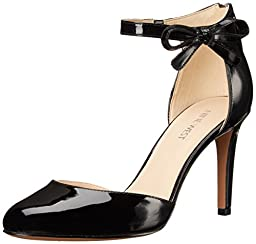 Nine West Women\'s Howley Synthetic Dress Pump, Black, 9 M US
