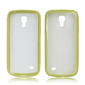 Yellow Green RML-TPU Bumper With Matte Hard Back Case Cover for Samsung Galaxy S4 Mini i9190