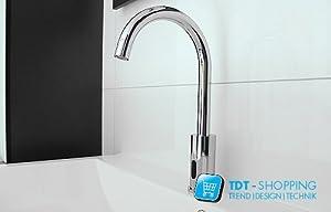 Robinet chromé avec capteur infrarouge IR salle de bain
