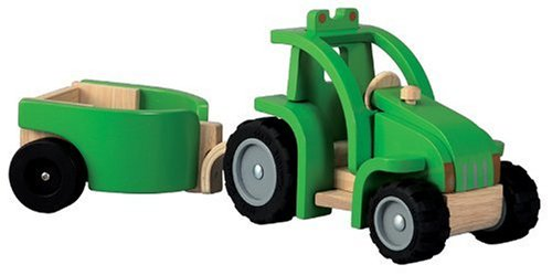 41%2BK6ywvppL Cheap Price PlanToys Tractor & Trailer