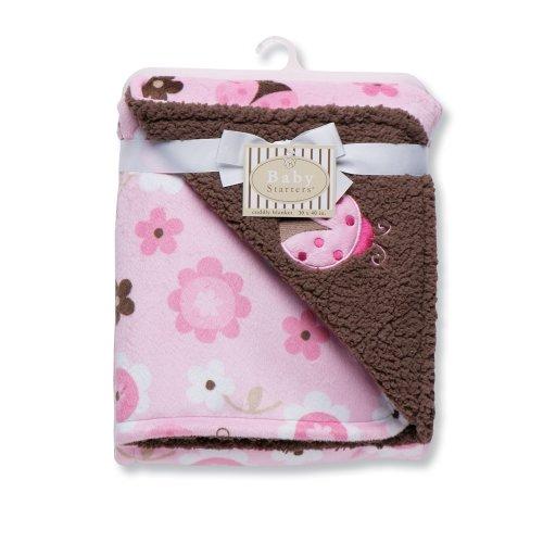 Baby Starters Ladybug Print Reversible Blanket, Pink - 1
