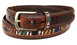 Columbia Men\'s 32mm Oil Tan Guatemalan Belt,Brown,34