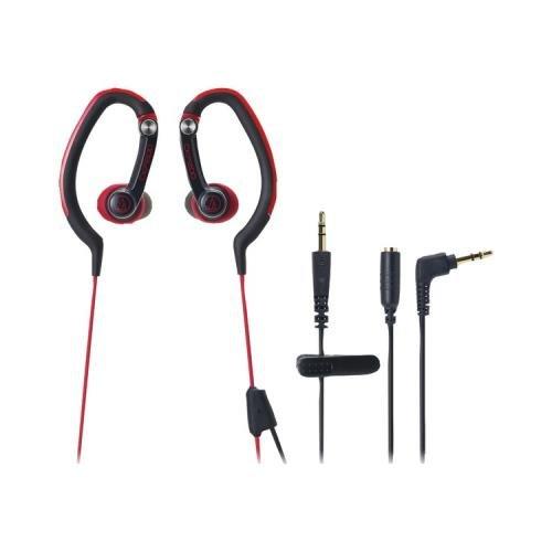 Audio Technica Ath-Ckp200Rd Sonicsport Ear-Clip Style Headphones (Red)
