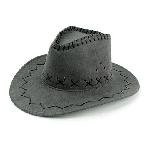 NYKKOLA occidentale Authentic Gunslinger Cappello Camoscio Cappello da cowboy unisex