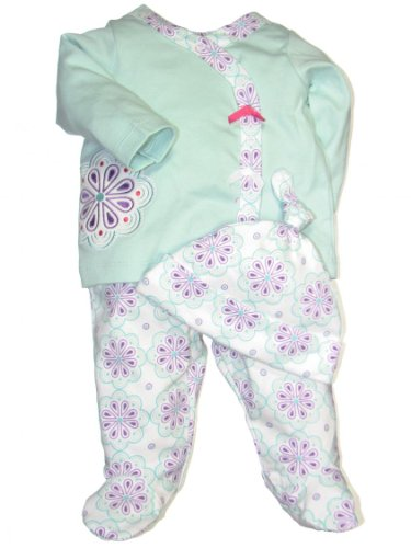 Offspring Baby Girls Newborn Crystal 3 Piece Take Me Home