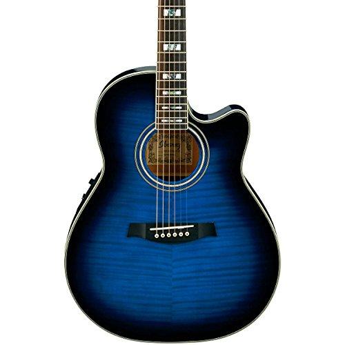 Ibanez Aef30E Acoustic-Electric Guitar Trans Blue Sunburst