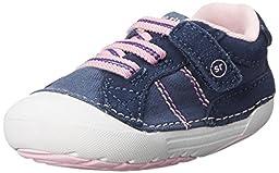 Stride Rite SRT SM Skyler Sneaker (Infant/Toddler), Navy, 3 M US Infant