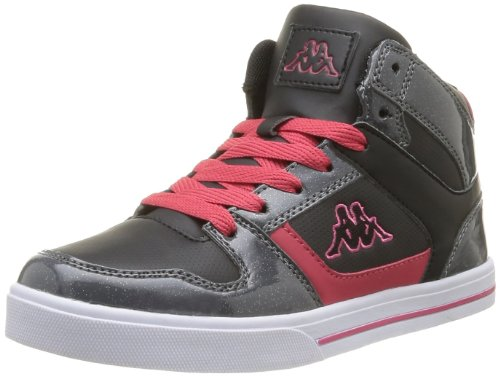 Kappa Girls' Lobya Lace Trainers Black Noir (Black/Dk Grey/Hot Pink) 37
