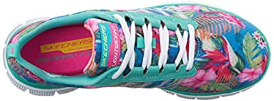 Skechers Women's Flex Appeal-Floral Bloom Floral Print Mesh with Memory Running Shoe