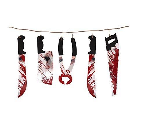 Garland Torture décoration pour Halloween, taille : 1,8 m, matériau : plastique