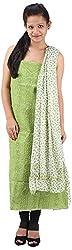 RV's Collection Women's Cotton Unstitched Salwar Suit Piece (Mehndi Green, RB-21)