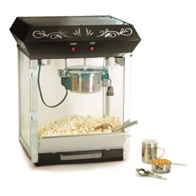 Maxi-Matic EPM-650 Elite 6-Ounce Old Fashioned Table Top Popcorn Popper Machine with Accessories