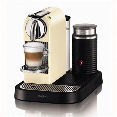 Nespresso D120 CitiZ Automatic Single-Serve Espresso Maker with Aeroccino Milk Frother (60's White)