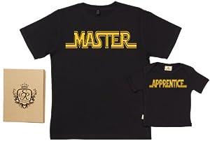 Spoilt Rotten - Master & Apprentice - 100% Bio-algodón - Papá y bebé Camiseta Set - Bebe Hogar