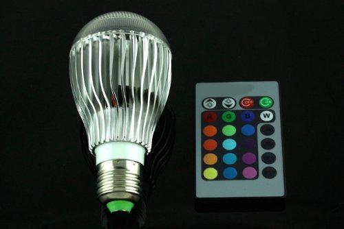 E27 8W Fernbedienung Farbwechsel LED Light Bulb RGB-Farbe Lampe 100-240V 220V