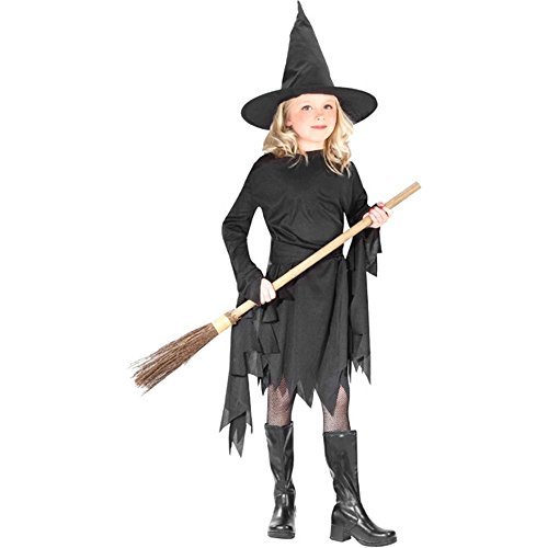 [Child Classic Black Witch Costume Size: Youth Medium 8-10] (Classic Black Witch Costumes)