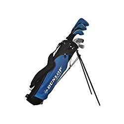 Dunlop DDH Steel Golf Full Package Set - Right Hand - 9 Clubs + 1 Bag (Limited Period Offer - FREE Golf Pride MultiCompound Grips - 9 Nos. with every Full Set)
