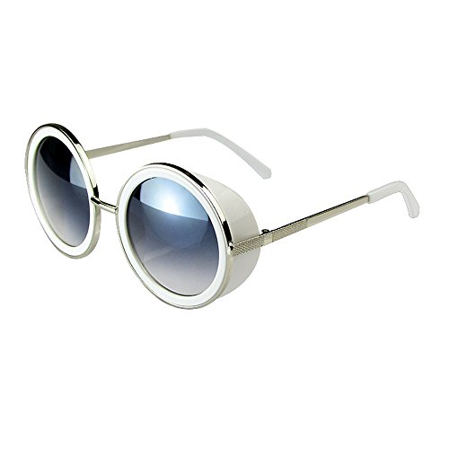 JULI 80's Style Vintage Style Inspired Classic Round Sunglasses 66666-7 (Vintage Glasses 80 compare prices)
