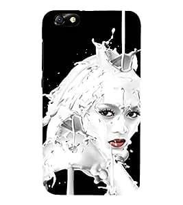 EPICCASE Milky face art Mobile Back Case Cover For Huawei Honor 4X (Designer Case)