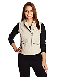 People Women's Cotton Down Jackets (P20402114974351_Khaki_S)