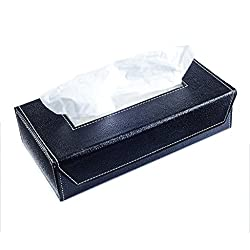 Ecoleatherette Handcrafted Eco-Friendly Napkin box Paper Tissue Holder box ( Black color)